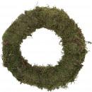 Guirlande mousse mince, D30, vert-nature